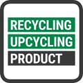 Mit dem Label  Recycling / Upcycling Product...