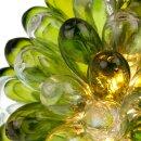 Lampe Tropfen transparent/olive, groß