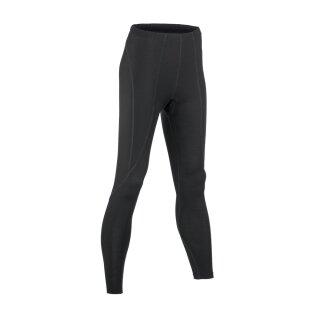 Damen Funktions-Leggings lang schwarz, Merinowolle/Seide