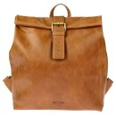 Leder-Rucksack/Lunch Bag Vintage braun