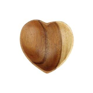 Schale 10cm Herzform Acaciaholz