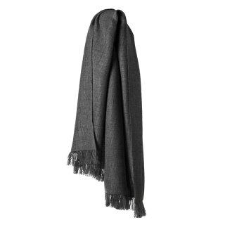 Baby-Alpaka Schal Edouard grau/schwarz 70x200cm