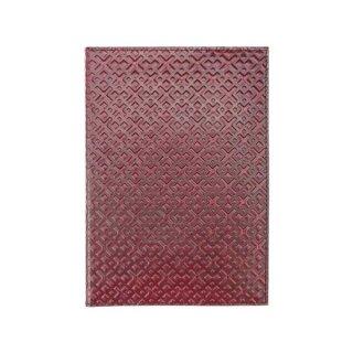 Leder-Notizbuch A5 Romb weinrot, nachfüllbar