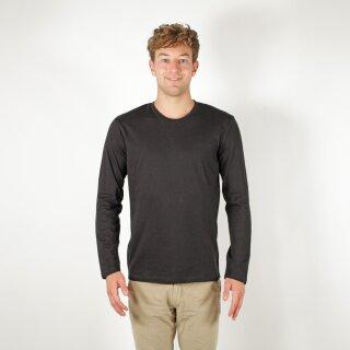 Herren Langarm-Shirt schwarz