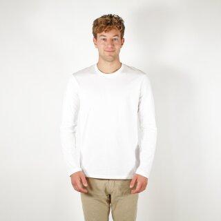 Herren Langarm-Shirt weiß