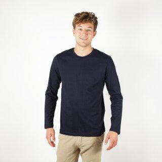 Herren Langarm-Shirt marineblau