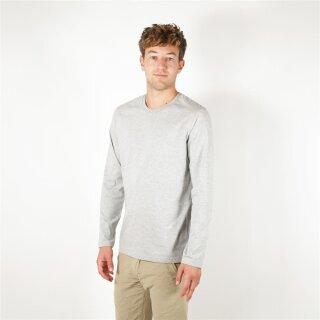 Herren Langarm-Shirt grau meliert