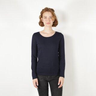 Damen Langarm-Shirt marineblau