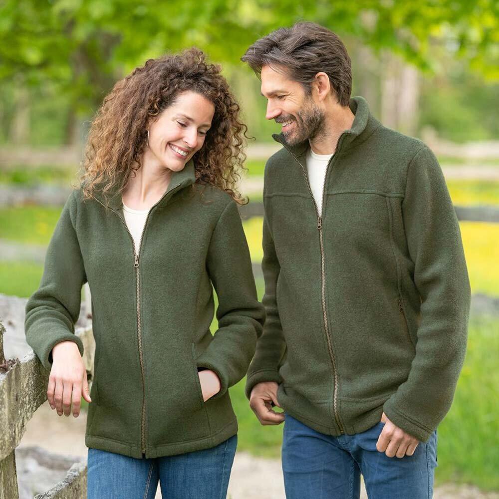 2d160f97277c07 Fair Trade Damen Fleece-Jacke, Merinowolle - Chic Ethic - Fair Trade S