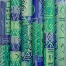 Stabkerze BLUE & GREEN, 23cm