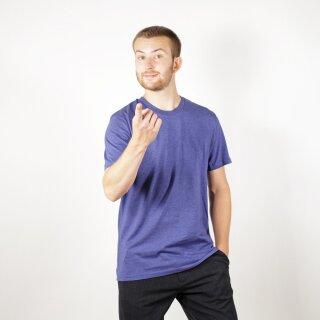 Herren T-Shirt indigoblau meliert
