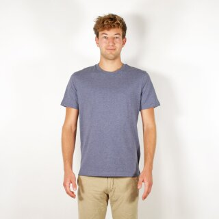 Herren T-Shirt mitteldunkelblau meliert