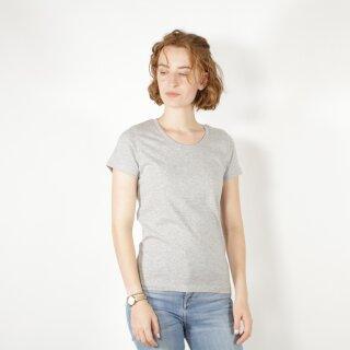 Damen T-Shirt grau meliert
