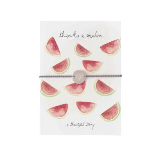 "Schmuck-Postkarte ""thanks a melon"""