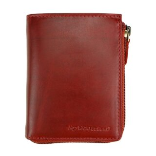 Leder-Brieftasche DOUBLE, antik-rot