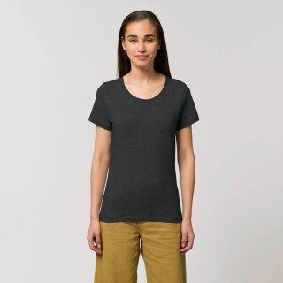 Damen T-Shirt dunkelgrau meliert