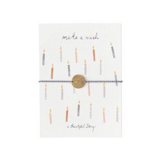 "Schmuck-Postkarte ""make a wish"""