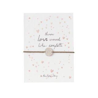 """Schmuck-Postkarte """"throw love around"""""""