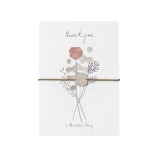 "Schmuck-Postkarte ""thank you"""