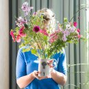 Keramik-Krug - Blumenmädchen