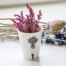 Keramik-Becher -  Blumenmädchen