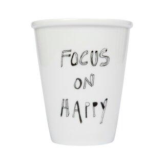 Keramik-Becher -  Focus On Happy