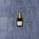 Anstecker Champagner-Flasche