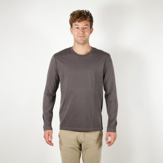 Herren Langarm-Shirt anthrazit
