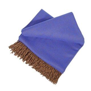 Merino-Decke Königsblau