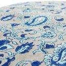 Meditationskissen handbedruckt grau-blau