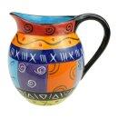 Keramik-Krug bunt, 700 ml