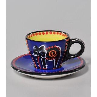 Espressotasse Elefant blau