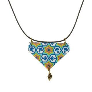 Halskette SHIRIN Dreieck türkis-bunt