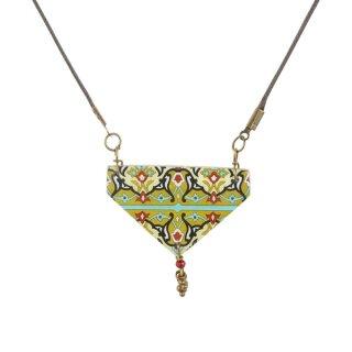 Halskette AMAL Dreieck gelb-bunt