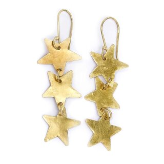 Ohrringe Stardrop vergoldet