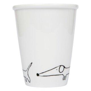 Keramik-Becher - Dackel