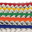 Saftpack UPCYCLING Etui Linie, Silber/Bunt