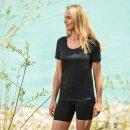 Damen Funktions-Shirt kurzarm, Regular fit, schwarz