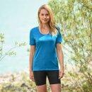 Damen Funktions-Shirt kurzarm, Regular fit, sky
