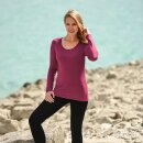 Damen Funktions-Shirt langarm, Regular fit, rot