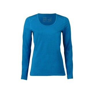 Damen Funktions-Shirt langarm sky, Regular fit, Merinowolle/Seide