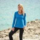 Damen Funktions-Shirt langarm sky, Regular fit,...