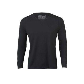 Herren Funktions-Shirt langarm schwarz, Regular fit