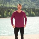 Herren Funktions-Shirt langarm rot, Regular fit