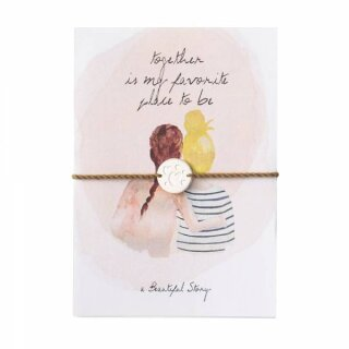 "Schmuck-Postkarte ""Two friends"""