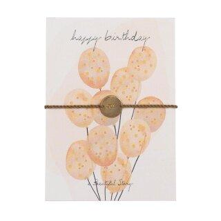 """Schmuck-Postkarte """"Happy Birthday"""""""