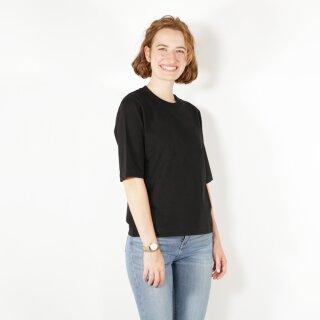 Damen Halbarm-Shirt, schwarz