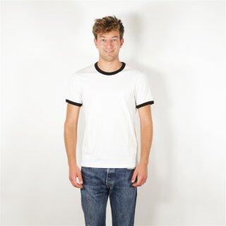 T-Shirt unisex, weiß/schwarz