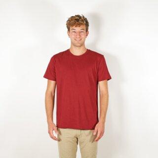 Herren T-Shirt burgunderrot