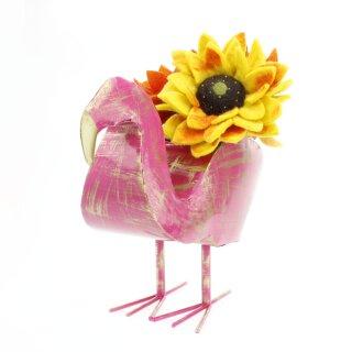 Pflanzentopf Flamingo, rosa lackiert
